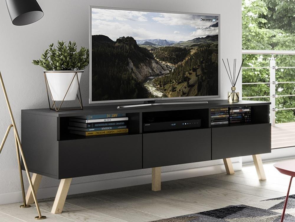 pas cher pour réduction 8f4ec cc55a Meuble TV Astra II noir 150 cm LIVRAISON GRATUITE