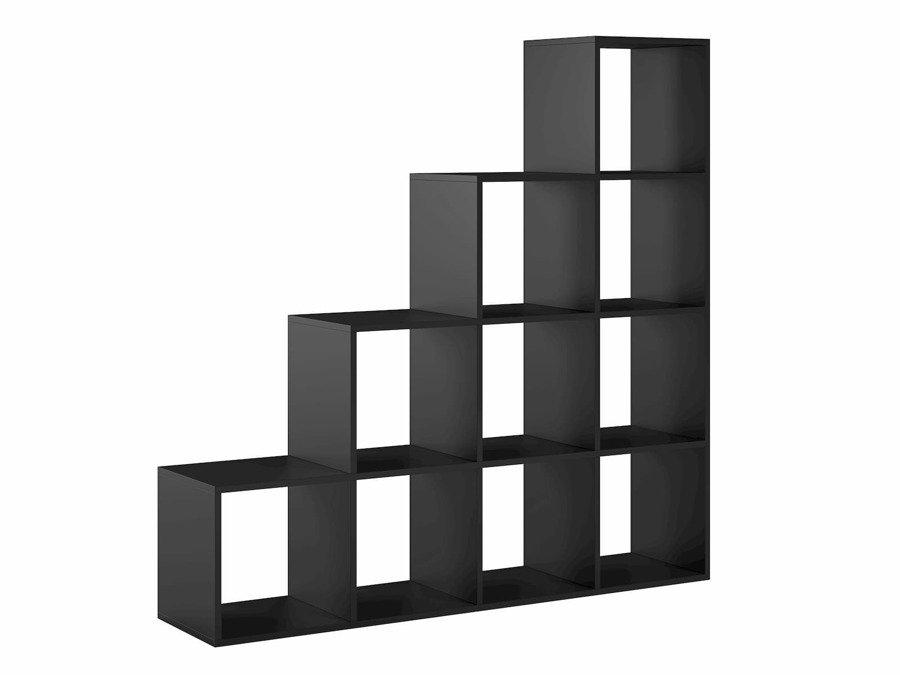Meuble Bibliotheque Pitagoras 10 Compartiments Noir 138 X 138 X 30 Cm Noir Mat 10 Trend Home Fr
