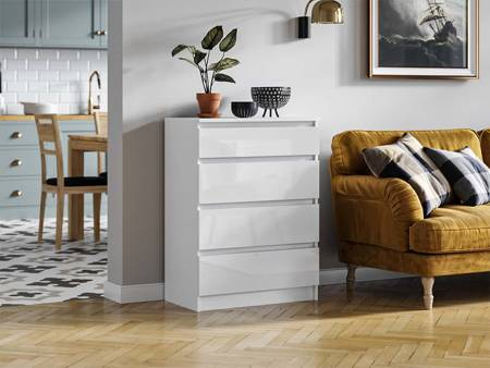 Commode Pari 4 Blanc brillant