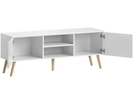Meuble TV Romeo blanc brillant 140 cm