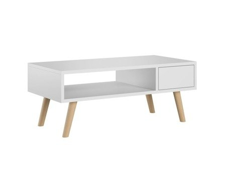Table basse Julia blanc mat 40 x 80 cm