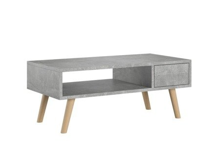 Table basse Juliette grise 40 x 80 cm